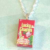 lucky charms cereal box necklace