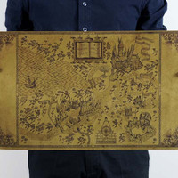 Harry Potter's Marauders Map Poster