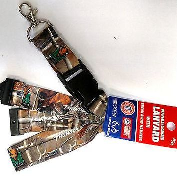 Marshall Thundering Herd CAMO RR Deluxe 2-sided Lanyard Keychain University of