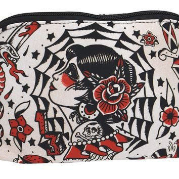 Liquorbrand El Fin Old School Tattoo Art Unisex Travel Pouch Cosmetic Bag