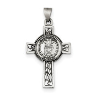 Sterling Silver US Air Force Cross Pendant QC4410