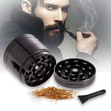 1pcs 4 Layers Herb Tobacco Spice Weeds Grass Aluminium Grinder Smoke Crusher Color Random Free