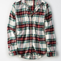AE Ahh-Mazingly Soft Flannel Cabin Shirt, Green