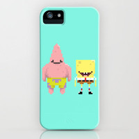 Spongebob & Patrick iPhone Case by lovemi | Society6