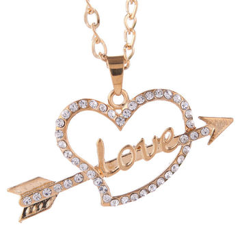 Shiny Gift New Arrival Jewelry Simple Design Stylish Diamonds Couple Fashion Accessory Necklace [6049346881]