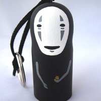 Spirited Away NO FACE / Faceless Studio Ghibli doll key chain rings