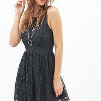 Crisscross-Back Lace Dress