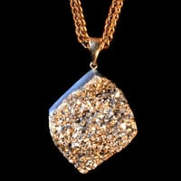 *Aether79-79 Gold Coated Agate Druzy Cabochon on Franco