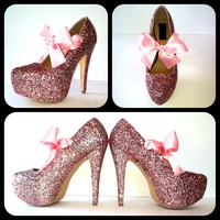 Bubblegum Glitter High Heels