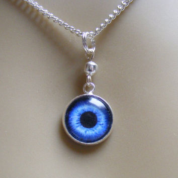 Evil Eye Pendant, Evil Eye Necklace,Glass Eye Jewelry, Miniature Eye Jewelry, Mini Eye Jewelry, Evil eye charm eye Pendant Protection Amulet