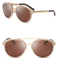 Burberry Thick-Rimmed Aviator Sunglasses