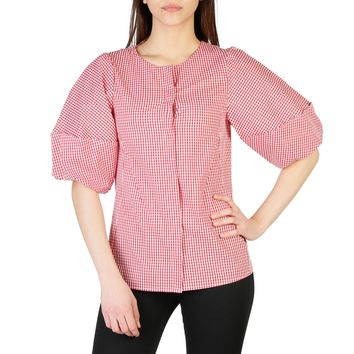 Imperial Red Sleeves Cotton Top