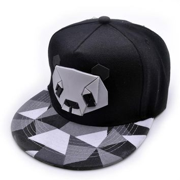 Women men Snapback Hip-Hop Hat Sport Baseball Panda Cap Golf ball Gorra planas snapback Casquette Cap with straight visor Toucas