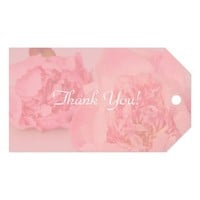 Faded pink peonies gift tags