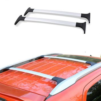 Car Styling For Ford Ecosport 2013 2014 2015 2016 2017 Aluminum Alloy Side Bars Cross Rails Roof Rack Luggage Carrier Rack 2Pcs