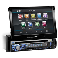 "Boss Audio Single Din 7"" Motorized Touchscreen Monitor with Bluetooth"