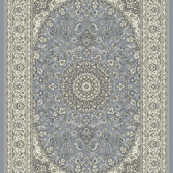 Dynamic Rugs Ancient Garden Steel Blue/Cream Classic Rectangle Area Rug
