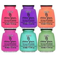 6 Colors CREMES China Glaze 2013 Sunsational Nail Polish 0.5fl oz CREAM
