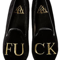The Lowf FU CK Shoes in Black & Gold
