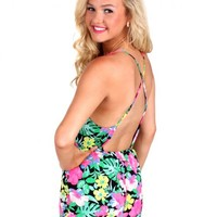 Keep It Cool Black Floral Romper | Monday Dress Boutique