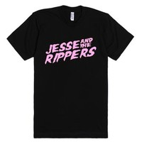 Jesse and the Rippers-Unisex Black T-Shirt