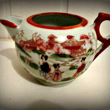Antique Japanese Geisha Girl porcelain Signed, milk jug, mug, kitchen decor, home decor
