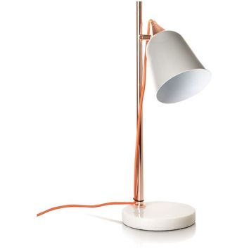 Grey Table Lamp with Marble Base | Oliver Bonas