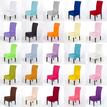 Universal Stretch Spandex Dining Room Wedding Banquet Chair Cover Slipcover Pure