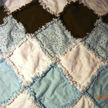 Baby Boy Rag Quilt by MooreHomemadeDesigns on Etsy