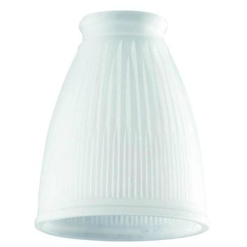 "Westinghouse 8109400 Frosted Pleated Replacement Lamp Glass Shade, 4-1/4"" Dia"