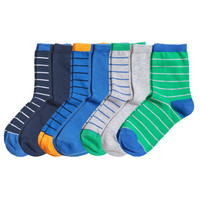 H&M - 7-pack Socks - Dark blue - Kids
