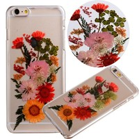"Case for Iphone 6S Plus,Fifine® Iphone 6s Plus case ,Real Pressed Colorful Flowers Phone Case for Iphone 6 Plus/6S Plus 5.5""-364"