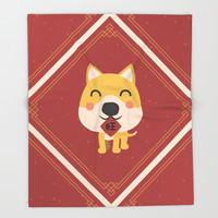 Year of the Dog Throw Blanket by lalainelim