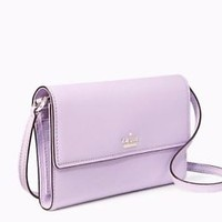 NWT Kate Spade Cameron Street  Stormie Leather Bag Wallet Lilac Cream New $198