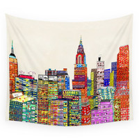 Society6 New York City Skyline Wall Tapestry