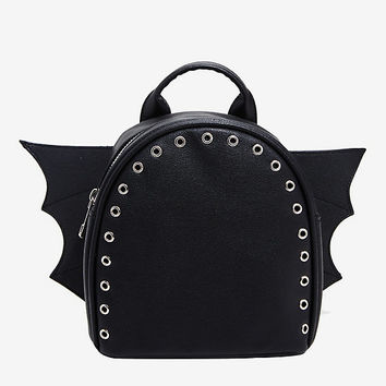 Bat Wing Grommet Mini Backpack
