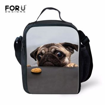 ad76a0c53f0a FORUDESIGNS Cool Thermal Lunch Bag 3D Animal Print Insulated Food Bag for  Kids Boys Girls Women