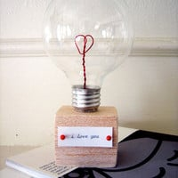 diy project: valentine lightbulb | Design*Sponge