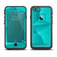 The Blue Geometric Pattern Apple iPhone 6 LifeProof Fre Case Skin Set