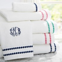 POP DOT BATH TOWELS
