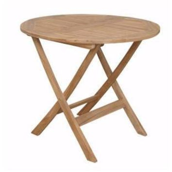 "Anderson Teak Chester 32"" Round Folding Picnic Table"