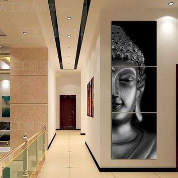 3 Pieces/set Modern Wall Art Buddha Printed Canvas Printed Pictures Wall Pictures for Living Room Prints Poster Unframed