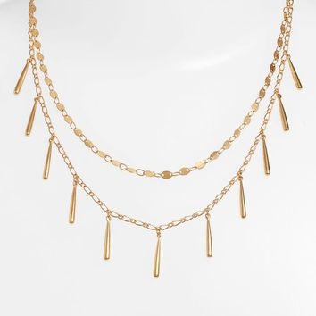 Rebecca Minkoff Teardrop Double Layer Necklace | Nordstrom
