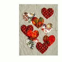 The COLORS of LOVE, Textile Art, Quilting Art, Wall Hanging
