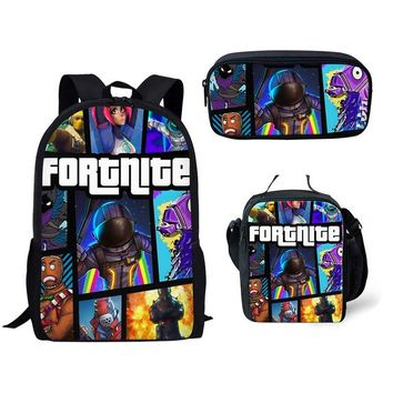 Boys bookbag trendy 3Pcs/Set Fortnite Game Printing School Bags for Kids Boys School Backpacks Shoulder Bagpack Children  Satchel AT_51_3