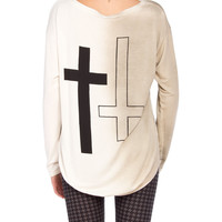 Up Down Cross Sweater - 2020AVE
