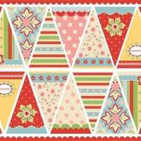Fabric Bunting / Flag Panel Delighted Fabric | Luulla