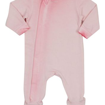 Coccoli Baby Girls' Primrose Zipper French Terry Footie