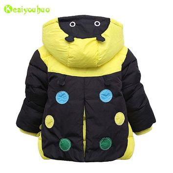 KEAIYOUHUO Baby Boys Jackets 2017 Autumn Winter Jacket For Boys Beatles Jacket Kids Warm Outerwear Infant Coats Children Clothes
