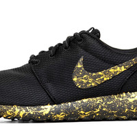 Nike Roshe One - Gold Paint Color Splatter